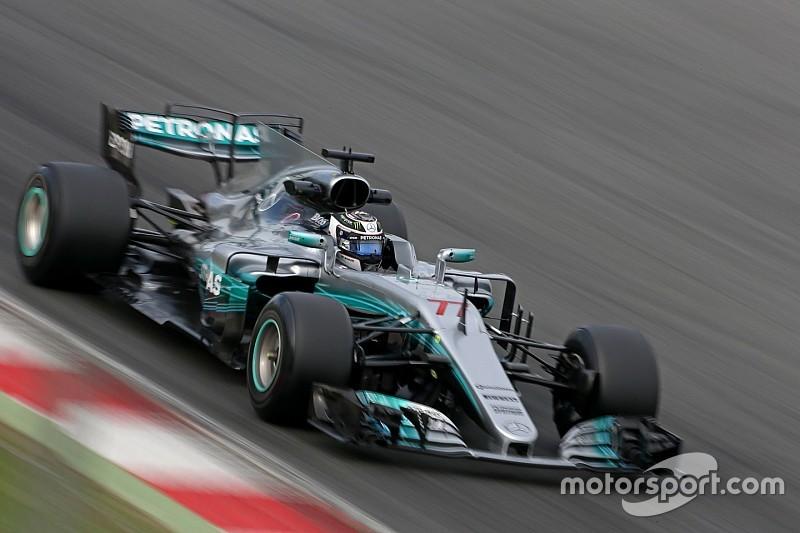 Bottas terminó adelante y Raikkonen chocó en Barcelona