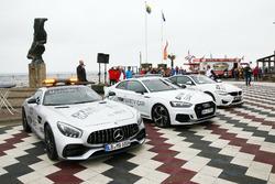 Paul Di Resta, Mercedes-AMG Team HWA, Mercedes-AMG C63 DTM, Loic Duval, Audi Sport Team Phoenix, Audi RS 5 DTM, Maxime Martin, BMW Team RBM, BMW M4 DTM con le safety car