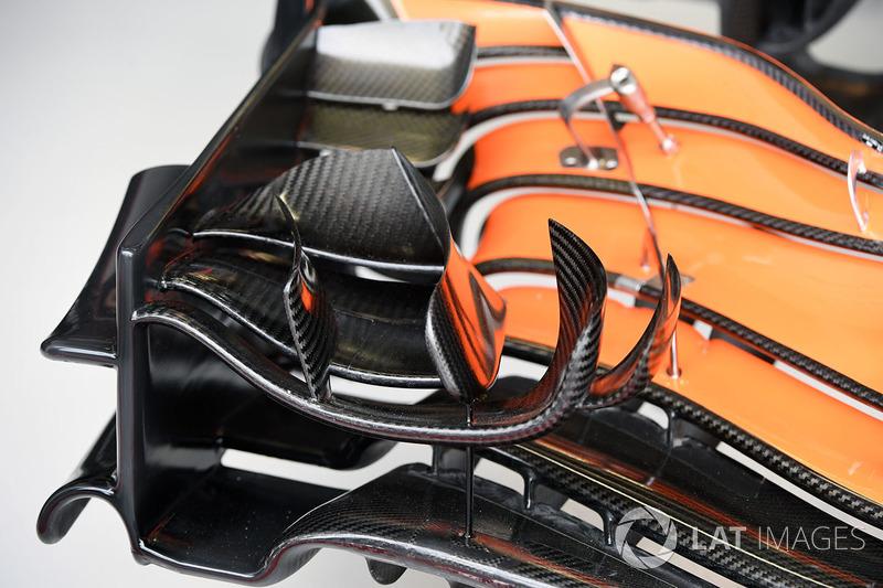 McLaren MCL32 fön kanat detay