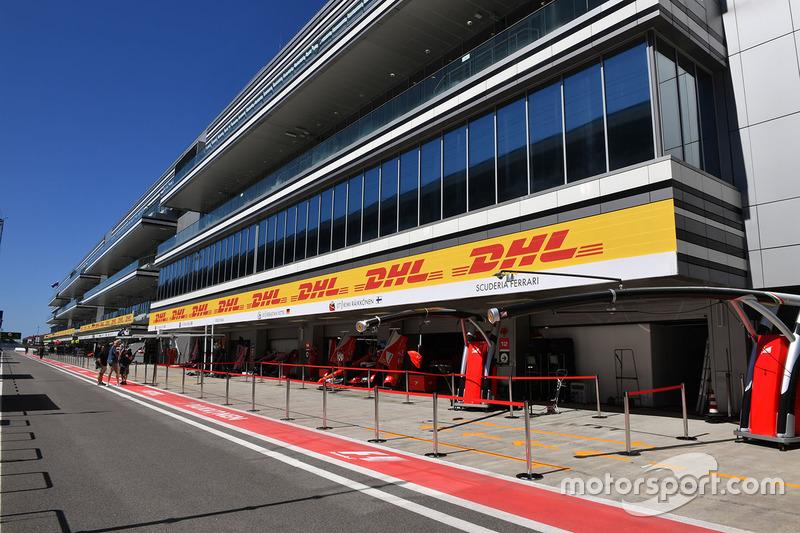 Ferrari garage in the Pitlane