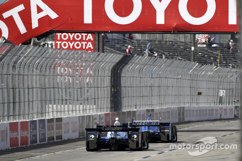 Max Chilton, Chip Ganassi Racing, Honda; Tony Kanaan, Chip Ganassi Racin,g Honda