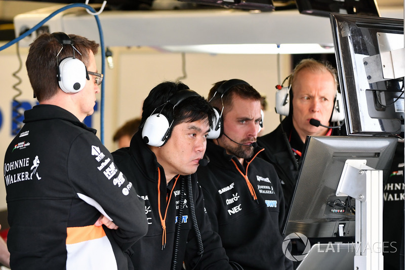 Jun Matsuzaki, Force-India-Reifeningenieur