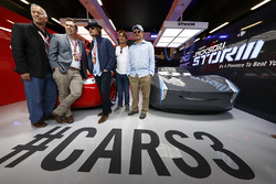 Disneys Brian Fee and Kevin Reher, Actors Woody Harrelson and Owen Wilson in the Cars 3 promotional