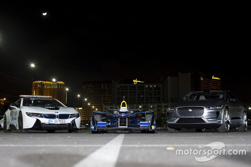 El BMW i8 safety-car, Spark DS Virgin y Jaguar I-Pace