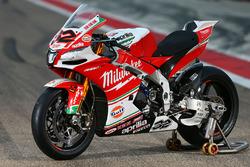 La moto de Julian Simon, Milwaukee Aprilia World Superbike Team