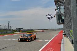 #2 CRP Racing Mercedes AMG GT3: Ryan Dalziel, Daniel Morad, takes the checkered flag