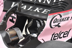 Sahara Force India F1 VJM10 rear exhaust detail