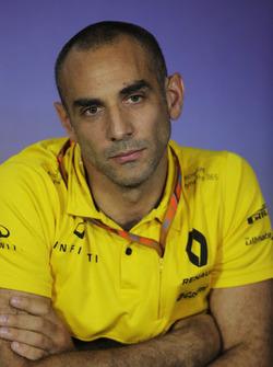 Cyril Abiteboul, directeur général Renault Sport F1 Team, lors de la conférence de presse