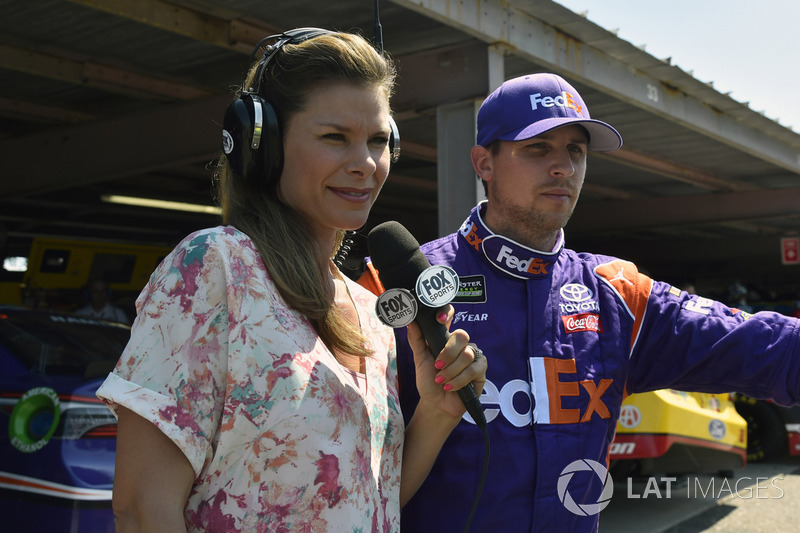 Denny Hamlin, Joe Gibbs Racing, Toyota, mit Jamie Little, Fox Sports