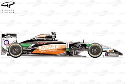 Force India VJM07 side view (Launch car)