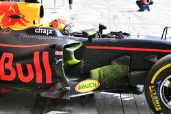 Max Verstappen, Red Bull Racing RB13, mit FlowViz-Farbe