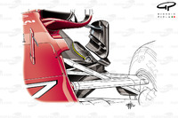 Ferrari SF70H: Unterboden
