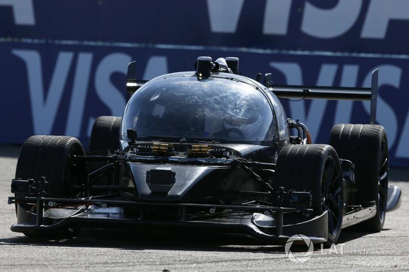 Roborace test car on track