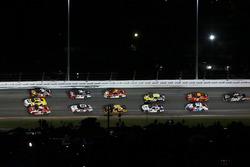 Ryan Reed, Roush Fenway Racing Ford, Kasey Kahne, Hendrick Motorsports Chevrolet and Ty Dillon, Richard Childress Racing Chevrolet