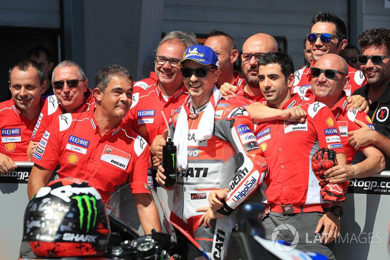 Third place Jorge Lorenzo, Ducati Team