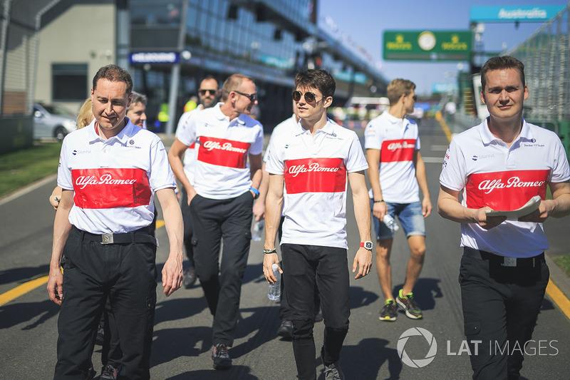 Charles Leclerc, Alfa Romeo Sauber F1 Team walks the track