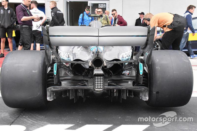 Mercedes-AMG F1 W09 diffuser detail