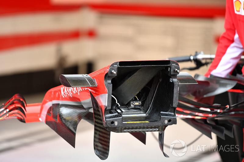 Detalle de la nariz del Ferrari SF71H
