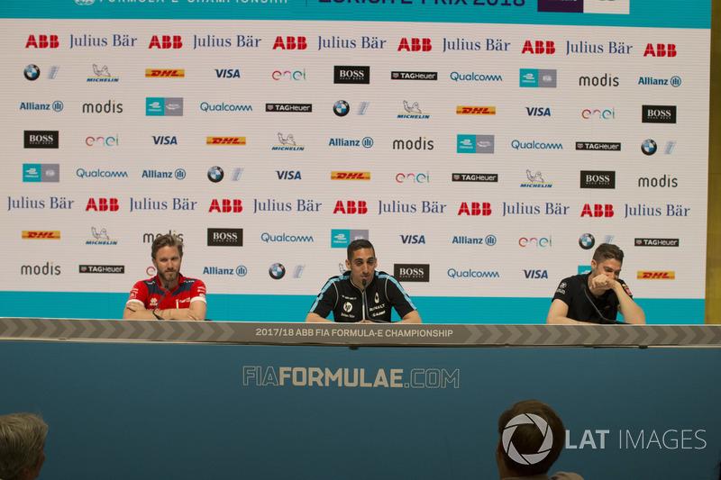 Nick Heidfeld, Mahindra Racing, Sébastien Buemi, Renault e.Dams, Edoardo Mortara, Venturi Formula E