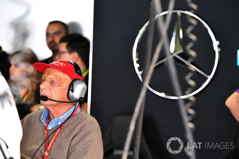 Niki Lauda, presidente no ejecutivo de Mercedes AMG F1