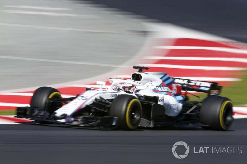 16º Sergey Sirotkin, Williams FW41: 1:19.189 (Blandos)