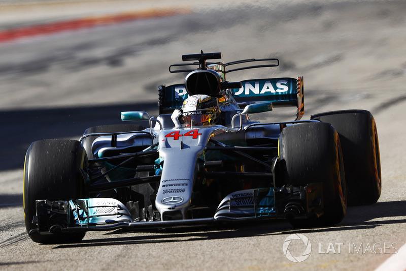 Lewis Hamilton, Mercedes AMG F1 W08, fête sa victoire
