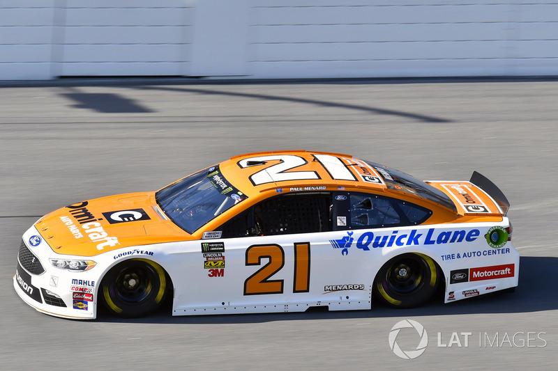 16. Paul Menard, No. 21 Wood Brothers Racing Ford Fusion