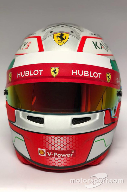 Casque d'Antonio Giovinazzi, pilote de réserve Ferrari