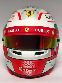 Casco de Antonio Giovinazzi, piloto reserva de Ferrari