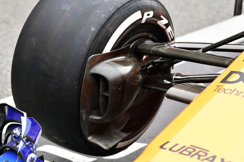 Detalle del conducto de freno McLaren MCL33