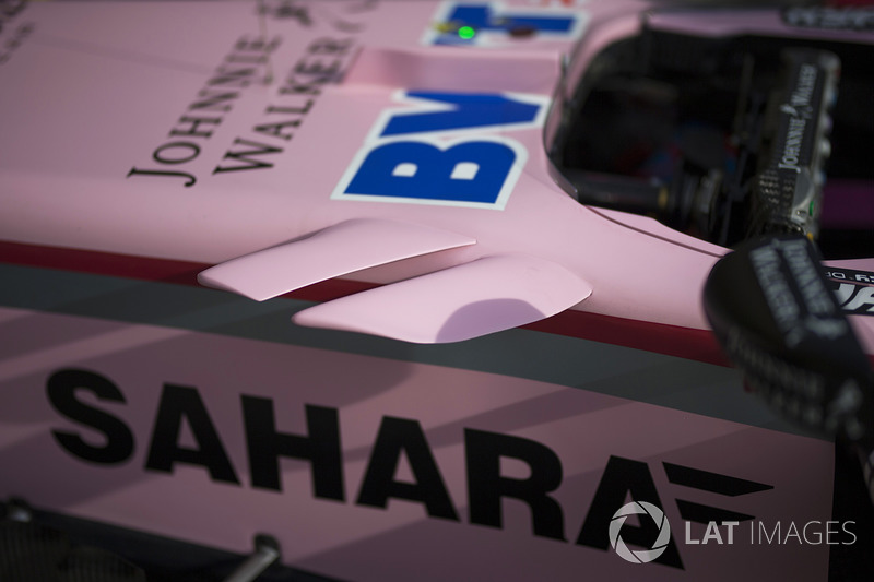 Force India VJM10: Luftleitbleche