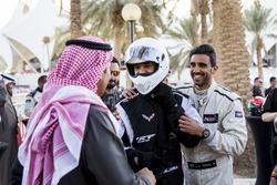Abdullah Aldosari with Abdullah Aldosari and Prince Khaled Al Faisal, President of the Motor Federation Of Saudi Arabia during ROC Factor Saudi Arabia