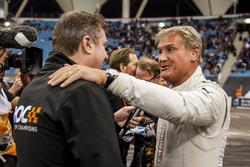 David Coulthard embrasse David Croft