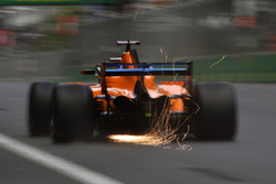 Fernando Alonso, McLaren MCL33 and sparks