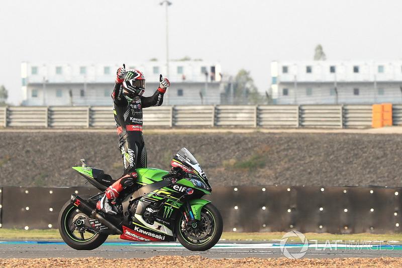 Le vainqueur Jonathan Rea, Kawasaki Racing