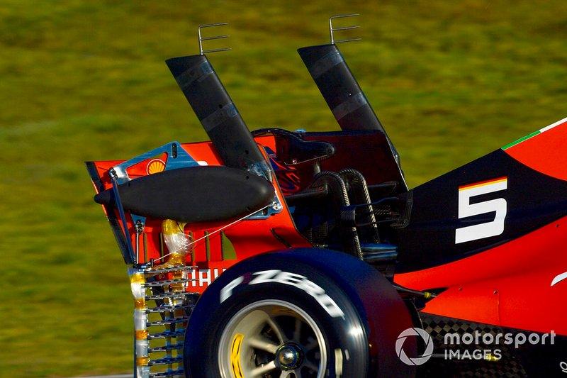 Sebastian Vettel, Ferrari SF90, con parrillas aerodinámicas