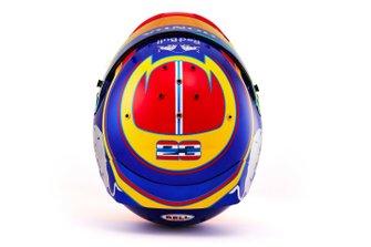 Le casque d'Alex Albon, Scuderia Toro Rosso