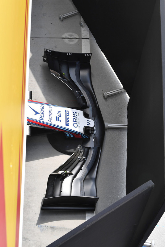 Williams FW41 nose and front wing detail