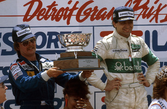 1. Michele Alboreto, Tyrrell, 2. Keke Rosberg, Williams
