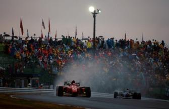 Jean Alesi, Ferrari 412T1B, Nigel Mansell, Williams FW16B