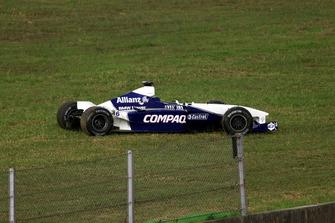 Unfallauto von Juan Pablo Montoya, BMW Williams FW23