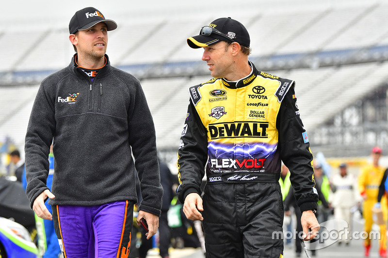 Denny Hamlin, Joe Gibbs Racing, Toyota; Matt Kenseth, Joe Gibbs Racing, Toyota