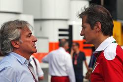 (L to R): Carlos Sainz, with Massimo Rivola, Ferrari Driver Academy Director