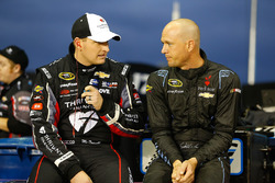 Michael McDowell, Circle Sport Leavine Family Racing Chevrolet, Josh Wise, The Motorsports Group Chevrolet