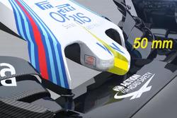 Williams FW38 neus detail