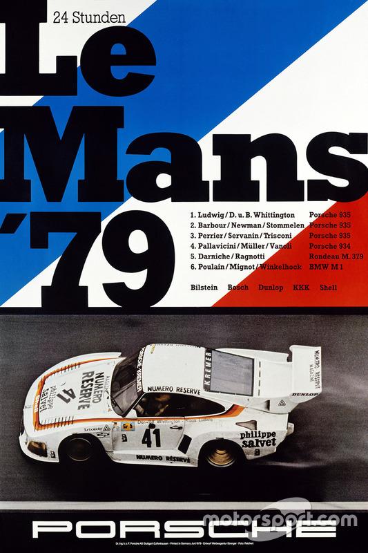 Poster Porsche 24h de Le Mans 1979