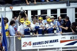 Podium: Al Holbert, Hurley Haywood, Vern Schuppan, Porsche 956