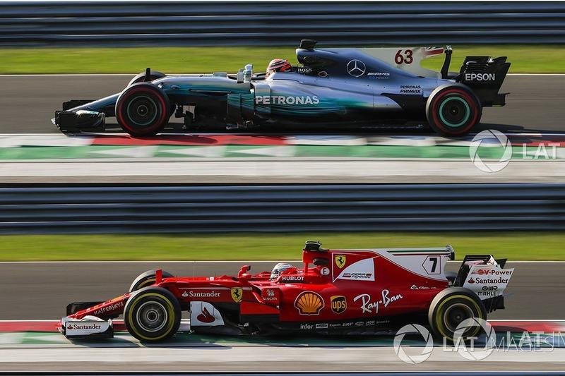 Mercedes W08, Ferrari SF70H