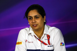 Monisha Kaltenborn, Sauber Team Prinicpal in the Press Conference