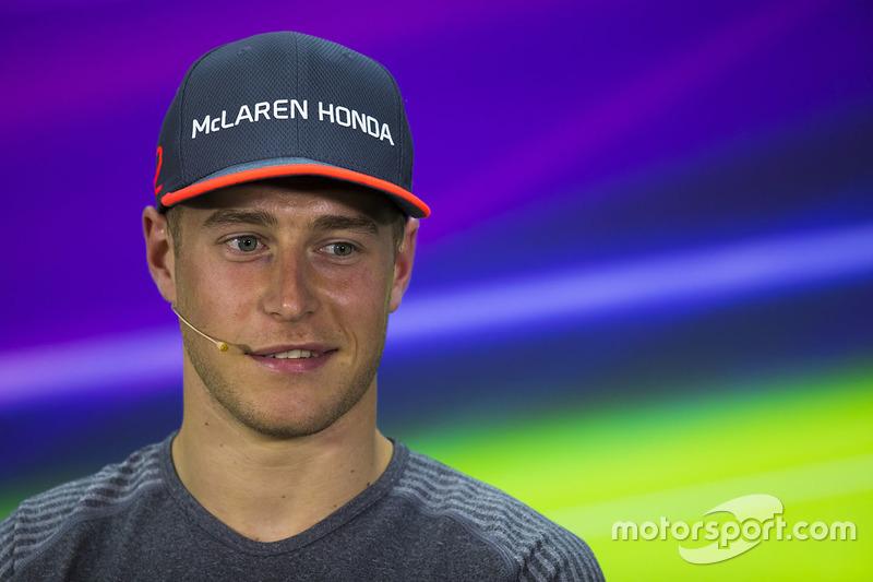 Stoffel Vandoorne, McLaren, in the press conference